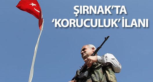 Şırnak'ta yeni köy korucuları işe alınacak!