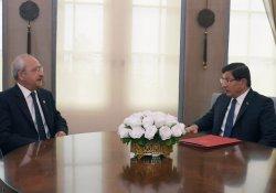 Davutoğlu, CHP Lideri Kılıçdaroğlu ile görüşecek