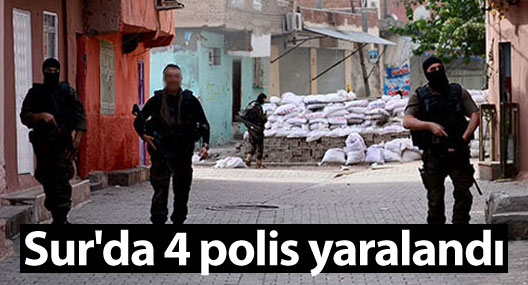 Diyarbakır Sur'da çatışma: 4 polis yaralandı
