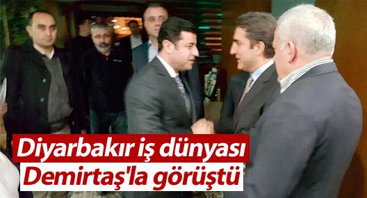 Diyarbakır iş dünyası Demirtaş'la görüştü