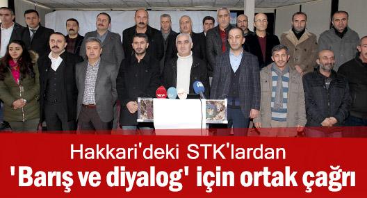 Hakkari'deki STK'lardan ortak çağrı