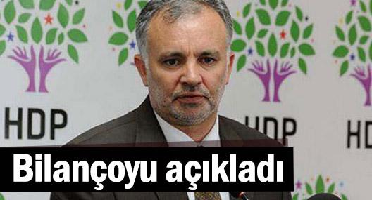 HDP Sözcüsü Ayhan Bilgen, yasakların bilançosunu açıkladı