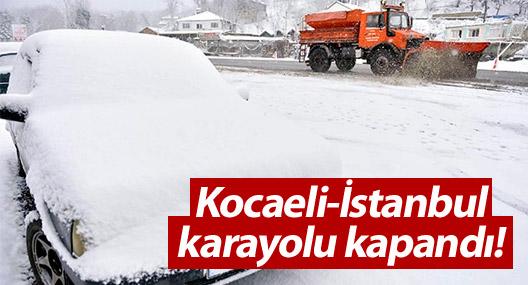 TEM Kocaeli-İstanbul karayolu kapandı!