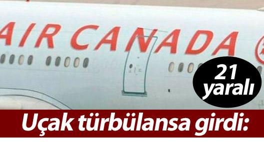 Uçak türbülansa girdi: 21 yaralı