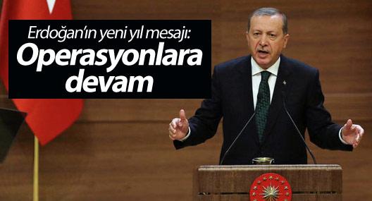 Erdoğan'ın yeni yıl mesajı: Operasyonlara devam