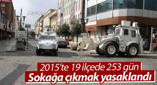 2015'te 19 İlçede 253 Gün Sokağa Çıkmak Yasaklandı