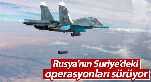 Rusya'nın Suriye'deki operasyonları sürüyor