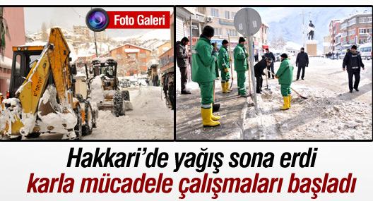 Hakkari'de karla mücadele başladı