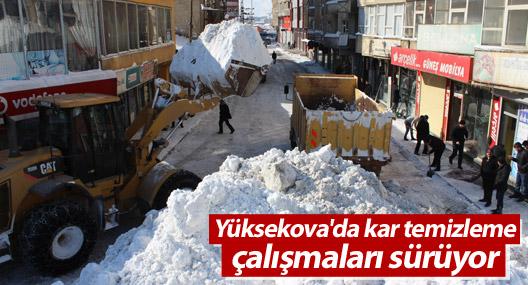 Yüksekova'da hummalı kar temizleme çalışması