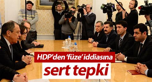 HDP'den 'Demirtaş Rusya'dan füze istedi' iddiasına tepki