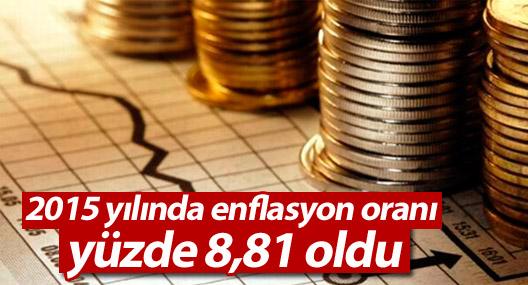 2015 yılında enflasyon oranı yüzde 8,81 oldu