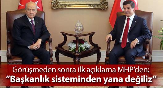Davutoğlu-Bahçeli görüşmesi sona erdi, ilk açıklama MHP'den