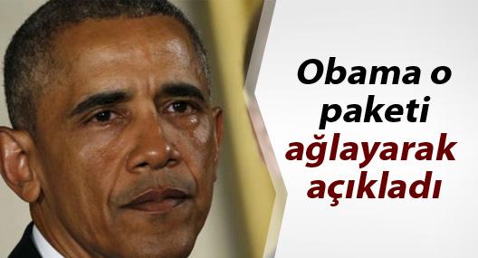 Obama bireysel silahlanmaya karşı tedbir paketini ağlayarak açıkladı