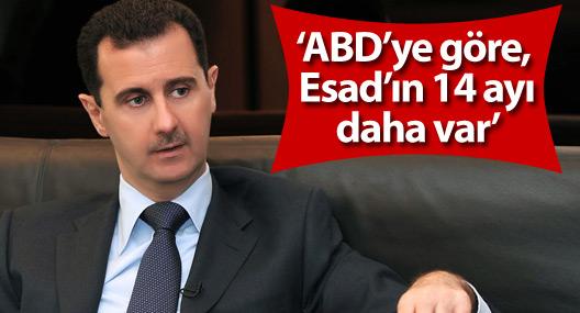 'ABD'ye göre, Esad'ın 14 ayı daha var'