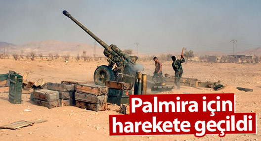 Suriye ordusu Palmira için harekete geçti