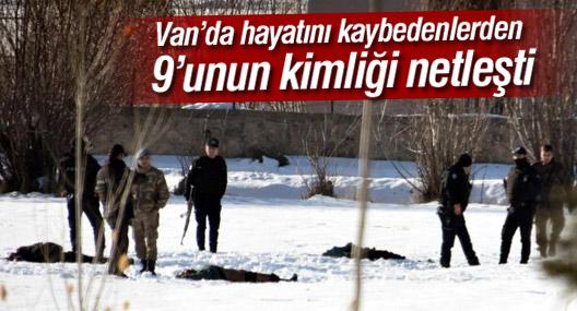 Van'da hayatını kaybedenlerden  9 kişinin kimliği netleşti