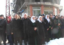 Yüksekova'da protesto eylemi