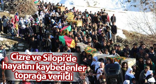 Cizre, Silopi ve Şırnak'ta öldürülen 12 kişiyi on binler toprağa verdi