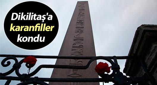 Dikilitaş'a karanfiller kondu