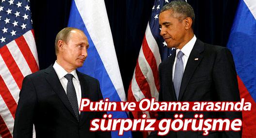 Putin ve Obama arasında sürpriz görüşme
