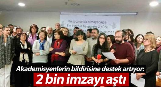 Akademisyenlerin bildirisine destek artıyor: 2 bin imzayı aştı
