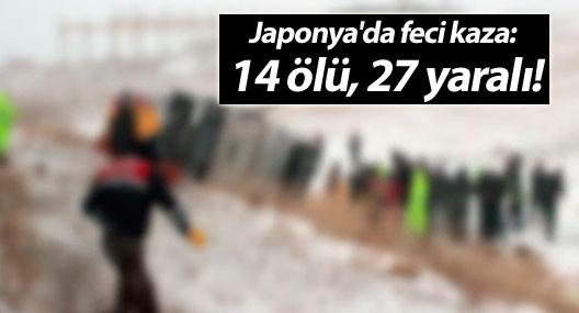 Japonya'da feci kaza: 14 ölü, 27 yaralı!