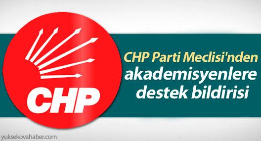 CHP Parti Meclisi'nden akademisyenlere destek bildirisi