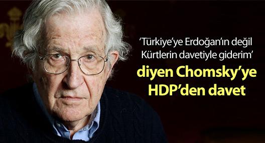 HDP, Noam Chomsky'yi Türkiye'ye davet etti