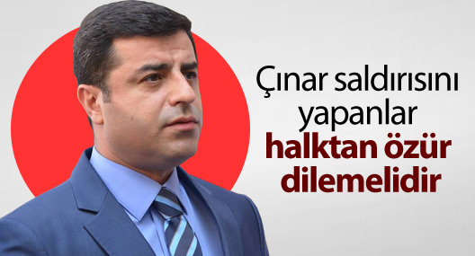 'Çınar'da yapılan saldırı kimler tarafından yapıldıysa özür dilemeli'