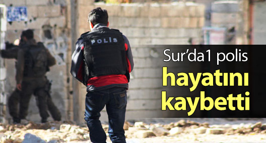 Sur'da 1 polis hayatını kaybetti