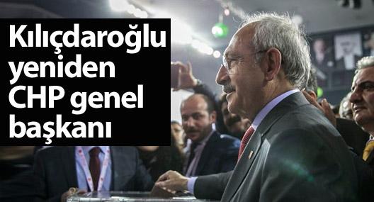 Kemal Kılıçdaroğlu yeniden CHP genel başkanı