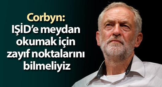 Corbyn: IŞİD'e meydan okumak için zayıf noktalarını bilmeliyiz