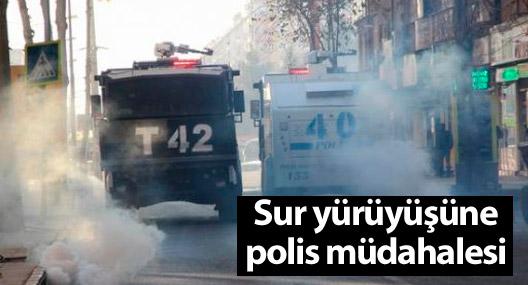 Diyabakır'daki Sur yürüyüşüne polis müdahalesi