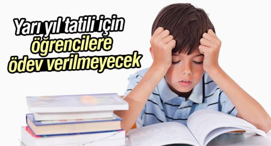 Yarı yıl tatili için öğrencilere ödev verilmeyecek