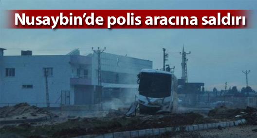Nusaybin'de polis aracına saldırı: 9'u polis, 10 yaralı