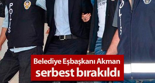 Belediye Eşbaşkanı Akman serbest bırakıldı