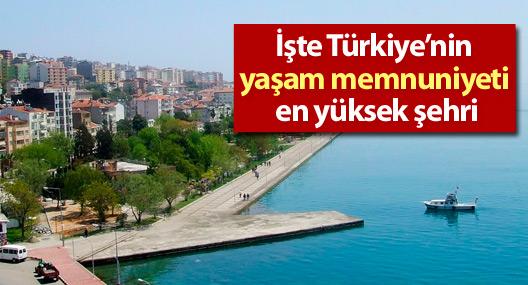 İşte Türkiye'nin yaşam memnuniyeti en yüksek şehri