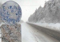 Bolu Dağı'nda kar kalınlığı 50 santimetreye ulaştı
