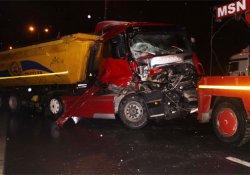 TEM'de 11 araçlı zincirleme kaza: 4 yaralı