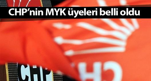 CHP'nin MYK üyeleri belli oldu