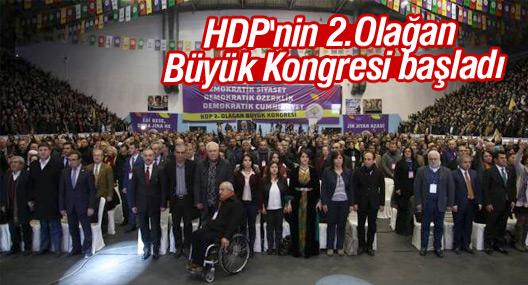 HDP'nin 2.Olağan Büyük Kongresi başladı