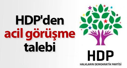 HDP'den acil görüşme talebi