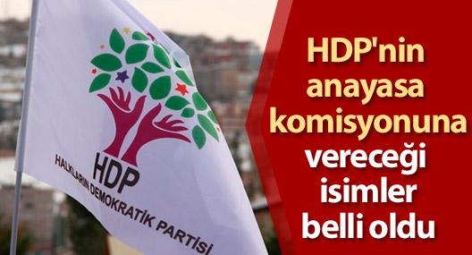 HDP'nin anayasa komisyonuna vereceği isimler belli oldu