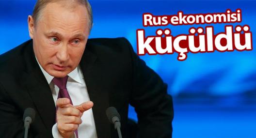 Rus ekonomisi 2015'te yüzde 3,7 küçüldü
