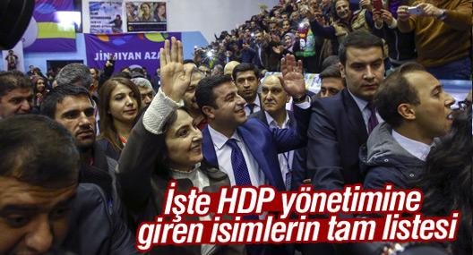 İşte HDP yönetimine giren isimlerin tam listesi