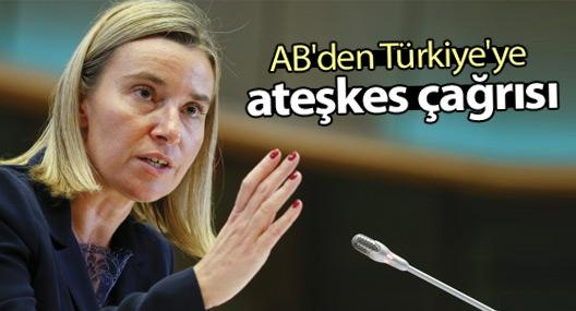 AB'den Türkiye'ye ateşkes çağrısı