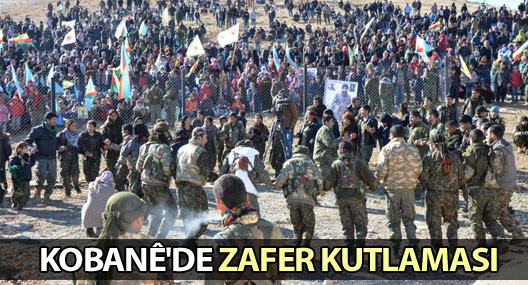 Kobanê'de zafer kutlaması