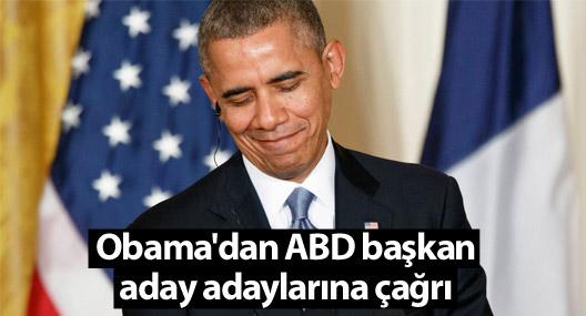 Obama'dan ABD başkan aday adaylarına çağrı