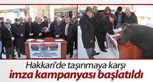 Hakkari'de imza kampanyası başlatıldı
