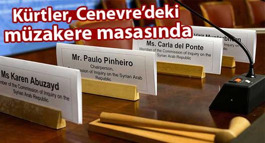 Kürtler, Cenevre'deki müzakere masasında